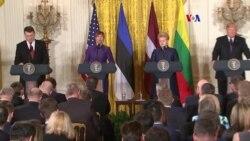 Trump habla sobre Rusia ante presidentes de países bálticos