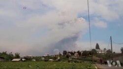Volkana Çiyayê Sinabung yê Indonesiya Çalak Dibe