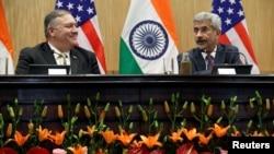 Госсекретарь США Майк Помпео и министр иностранных дел Индии Субрахманьям Джайшанкар. Дели. 26 июня 2019 г.