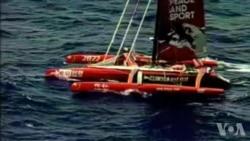 美国海警队派飞机寻找中国航海家郭川视频 (美国海警队提供)