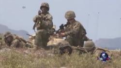 美菲海军陆战队举行两栖突袭军演