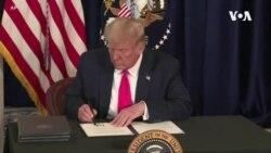 特朗普簽署行政命令 恢復聯邦額外失業保險金