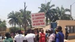La police a rapidement dispersé des centaines de manifestants à Douala