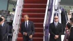 奥巴马预计星期天下午抵达曼谷