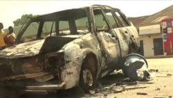 Destruction at an End SARS Protest in Jos, Nigeria