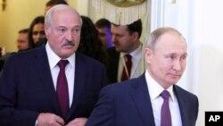 Президент Беларуси Александр Лукашенко и президент России Владимир Путин (Архивное фото)