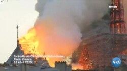 Catedral de Notre-Dame destruída por incêndio de grandes proporções