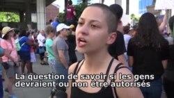 Une lycéenne dénonce le silence de Trump sur les armes (vidéo)