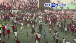 Machetes Africanas 17 Julho 2017: Parede desmorona em estádio de Dakar na final da Liga de Futebol do Senegal