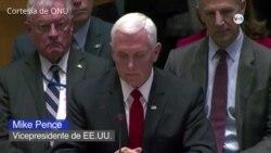 Mike Pence pide ante la ONU que reconozcan a Guaidó