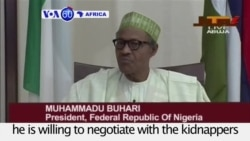 "VOA60 Africa - Nigeria: President Muhammadu Buhari says he is willing to negotiate with the kidnappers of ""Chibok girls"""