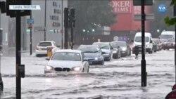Londra'da Sel Yaşamı Olumsuz Etkiledi