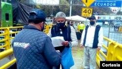 Por los pasos fronterizos de Colombia solo pueden ingresar colombianos a su retorno al país. [Foto: Cortesía Migración Colombia].