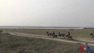 গাইবান্ধায় চরবাসীদের একমাত্র ভরসা ঘোড়ার গাড়ি