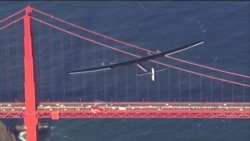Solar Plane Lands in California After Crossing Pacific