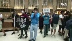"""香港反送中百萬人大遊行一週年 """"和你 lunch""""抗議"""