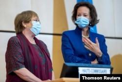 La Alta Comisionada de la ONU, Michelle Bachelet, actualizó el lunes 14 de septiembre de 2020 la situación de países como Nicaragua y Venezuela, durante la 45 sesión del Consejo de DD.HH., en Ginebra.