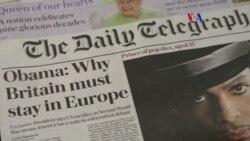 Obama opina sobre posible separacion de Gran Bretaña de la Union Europea
