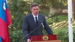 Претседателот на Словенија во посета на Скопје