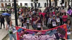 """Venezolanas marcharon contra la """"violencia de género"""""""