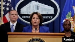Deputy U.S. Attorney General Lisa Monaco announces the recovery of millions of dollars worth of cryptocurrency from the Colonial Pipeline Co. ransomware attacks during a news conference at the Justice Department in Washington, June 7, 2021.
