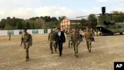 마크 에스퍼 미국 국방장관이 지난달 20일 아프가니스탄을 방문했다.