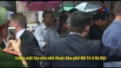 TT Obama tham gia ghi hình phim ký sự du lịch tại Hà Nội