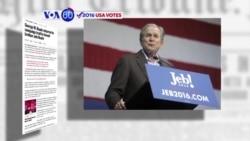 Manchetes Americanas 16 Fevereiro: Irmão Bush ajuda Jeb