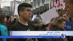 تظاهرات در بریتانیا در حمایت از راهپیمایی کنترل سلاح آمریکا