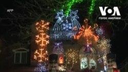 Різдвяна казка: святкові декорації Брукліна. Відео