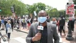 Correspondant VOA: manifestations à la Maison Blanche