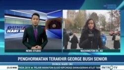 Laporan Langsung VOA untuk Metro TV: Penghormatan Terakhir bagi George HW Bush