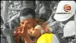 2013-05-10 美國之音視頻新聞: 孟加拉大廈倒塌現場救出一名生還者