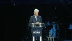 بیل کلینتون در مراسم دهمین سالگرد توفان کاترینا شرکت کرد