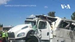 Авария туристического автобуса в Юте
