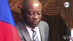 Reprezantan l ONU ann Ayiti, Helen La Lime, Chita Pale ak Senatè yo sou Kriz Politik la