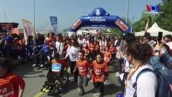 Çocuklar ve Gençler Omurilik Felçlileri İçin Koştu