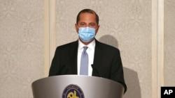 Bộ trưởng Y tế Mỹ Alex Azar phát biểu tại Đài Loan.