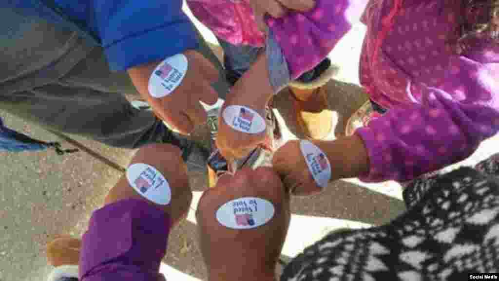 رای گیری انتخابات ریاست جمهوری آمریکا در ایالت مریلند، عکس ارسالی: Jazmin Laracuente