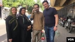 عکسی که از حسین رونقی بعد از آزادی اش منتشر شده است.