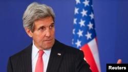 Waziri wa mambo ya nje wa Marekani, John Kerry, akiwa nchini Bulgaria, Januari, Jan. 15, 2015.