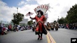 Desfile en Seaside Heights, Nueva Jersey, con motivo del Día de Colón.