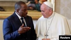 Shugaban Kasar Dimokradiyar Congo da Papa Roma Francis
