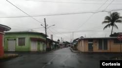 Así lucen las calles, el jueves, en Jinotepe, Nicaragua.