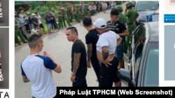 Hình ảnh hiện trường vụ giang hồ bao vây công an ở thành phố Biên Hòa, tỉnh Đồng Nai, vào ngày 12/6/2019.
