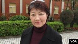 台湾执政党国民党立委 卢秀燕(美国之音张永泰拍摄)