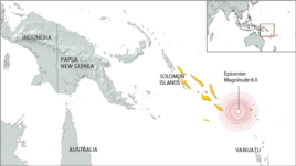 Earthquake in the Solomon Islands