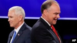 Pence na Republican da Kaine na Democrat