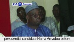 VOA60 Africa - Niger: Appeals court rejects demant to release jailed presidential candidate Hama Amadou