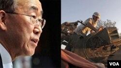Sekretè Jeneral Nasyonzini an Ban Ki-moon agoch --- Yon rebèl libyen a dwat